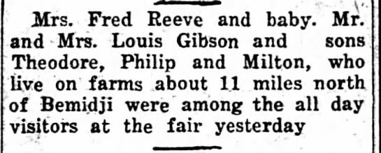 Reeve and Gibson at the fair -