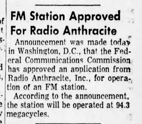 WISL 1-6-68 FM Station Approved -