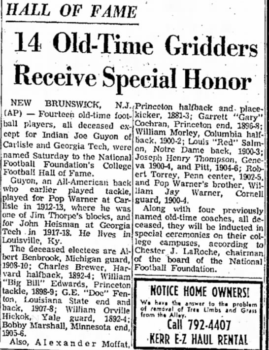 14 Old-Time Gridders Receive Special Honor -