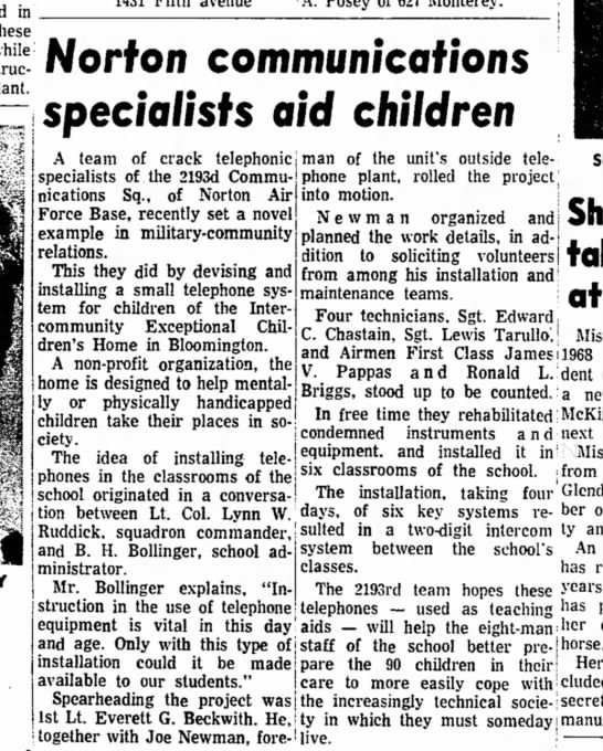 Sgt Lewis Tarullo aid children 18 aug 1969 Redlands Daily Facts -