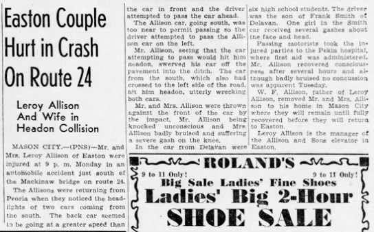 LeRoy and Constance Allison Car Accident - Newspapers com
