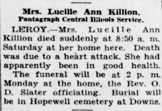 killion lucy ann died 07may1939 -