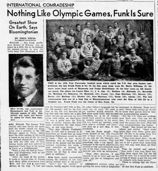 Nothing Like Olympic Games, Funk Is Sure -