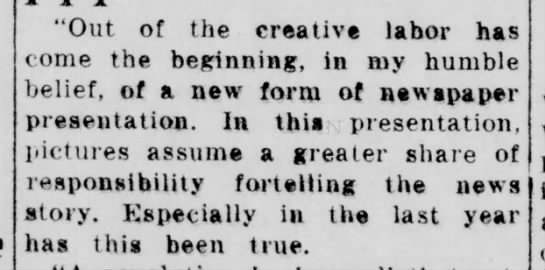 1936 man predicts that Wirephoto will lead to dominance of photos in news stories -