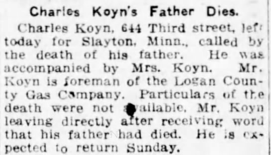 Louisa Koyn's father -