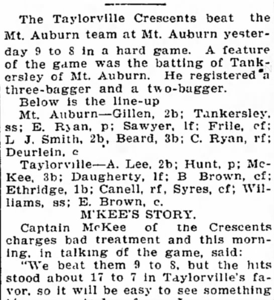 Who is this Deurlein? Decatur, IL 6 June 1904 -