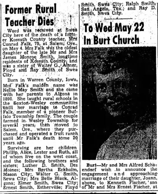 - former Rural Teacher Dies Word Was r&Seived at...