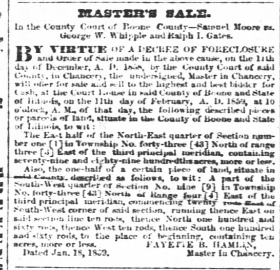 Master's Sale of property - Newspapers com