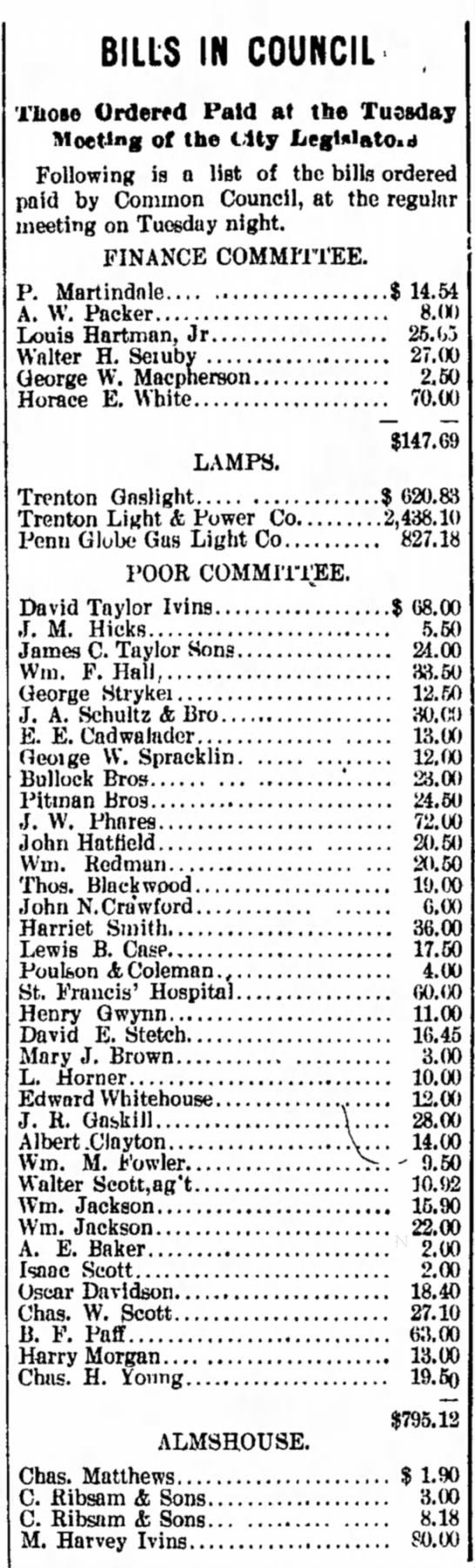 9 Dec 1897 Bills In Council -
