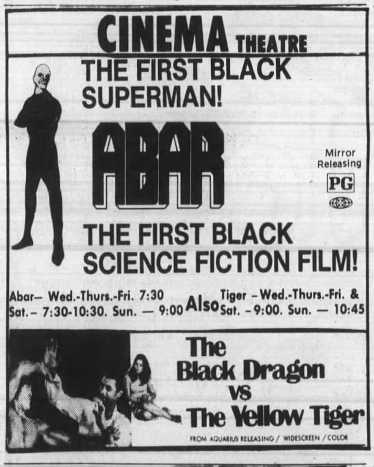 """Abar""/""The Black Dragon vs. the Yellow Tiger"" -"