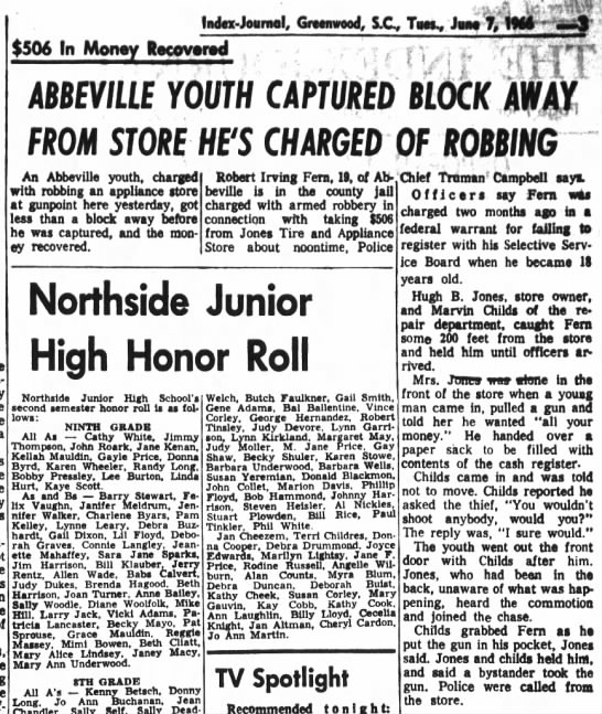 Robert Irving Fern robbery and arrest 1966 - Newspapers com