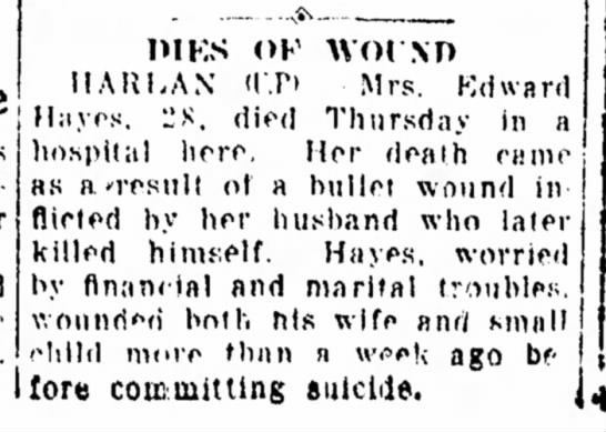 Hayes Louise Death -