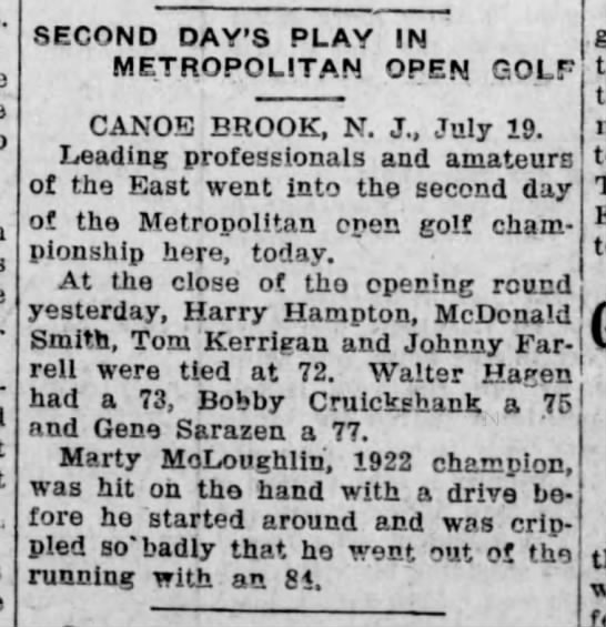 1923 Metropolitan Open tied for lead after 1st round -