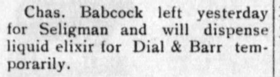Babcock with Dial and Barr Coconino Sun 14July1911 -