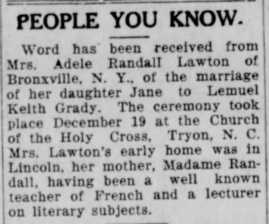 Marriage: LK Grady and Jane Lawton - Newspapers com