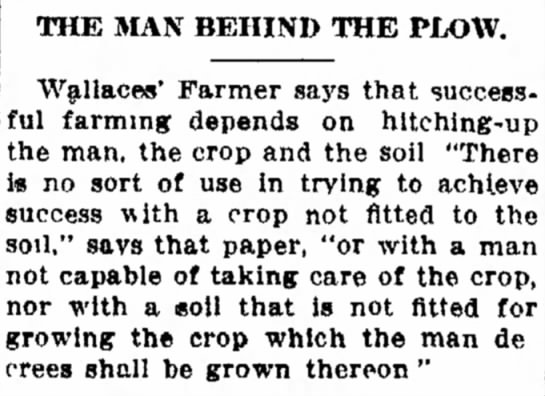 The Man behind the plow -