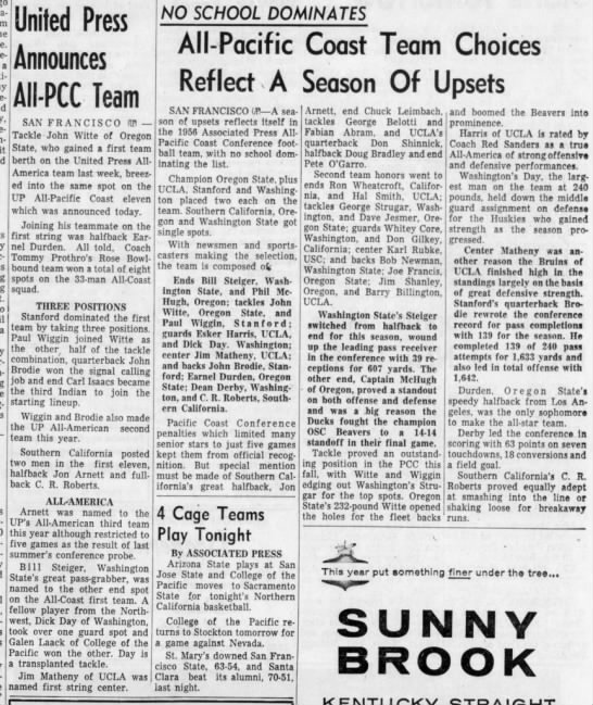 1956 AP and UP All-PCC football teams -