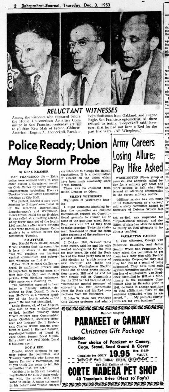 Reluctant Witnesses - D.P. Hill Dec 03 1953 -