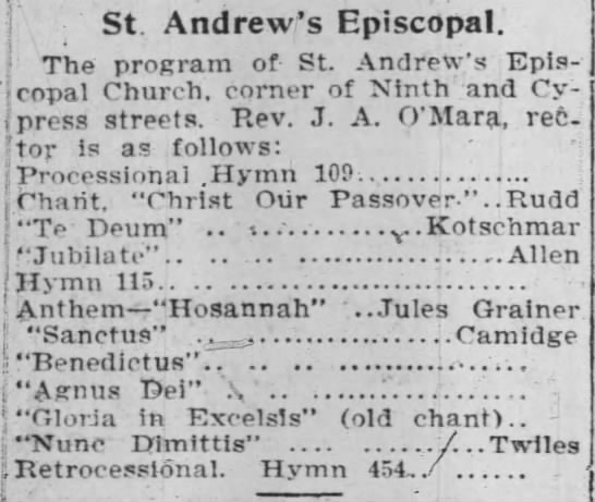 St. Andrew's Episcopal - 9th and Cypress -