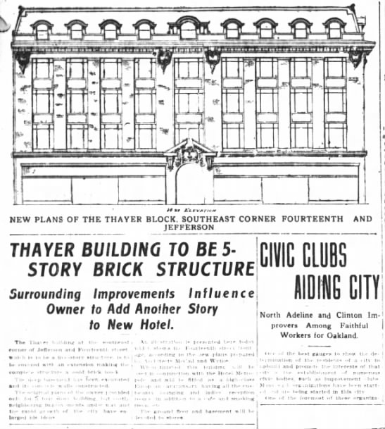 Thayer Building to be constructed -