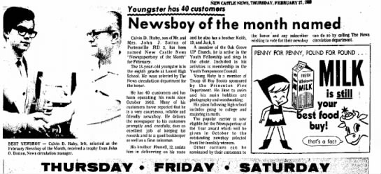 Ruby, Calvin D - newsboy - 1968 - Newspapers com