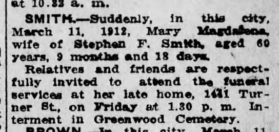 Smith, M  M  wife of Stephan 3-14-1912 - Newspapers com