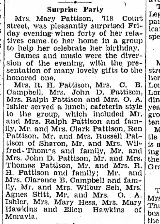 New Castle News (New Castle, PA), Saturday, 25 November 1933 p3 c3 -