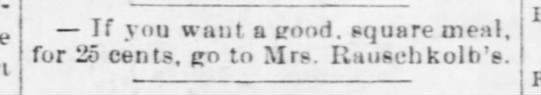 Mrs. Rauschkolb - Nebraska Advertiser (Brownville, Nebraska)14 Feb 1878, ThuPage 3 -