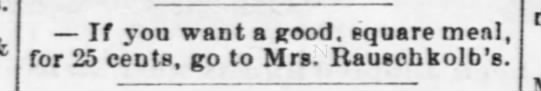 Mrs.Rauschkolb - Nebraska Advertiser (Brownville, Nebraska)20 Dec 1877, ThuPage 3 -