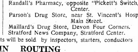 Maillards drug store location -
