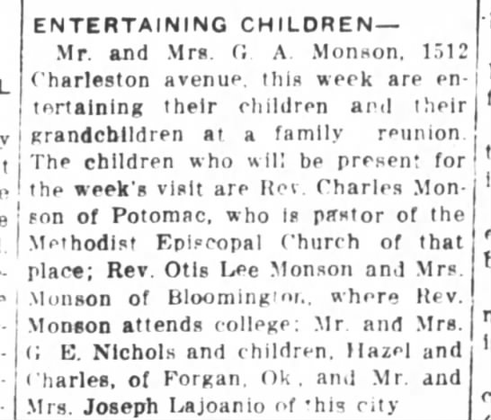 Journal Gazette(Matoon, Illinois),  6 June 1916, p. 6. -