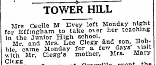EVEY, CECILE M. / MARY CLEGG -