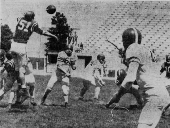 1958 Nebraska spring game photo -
