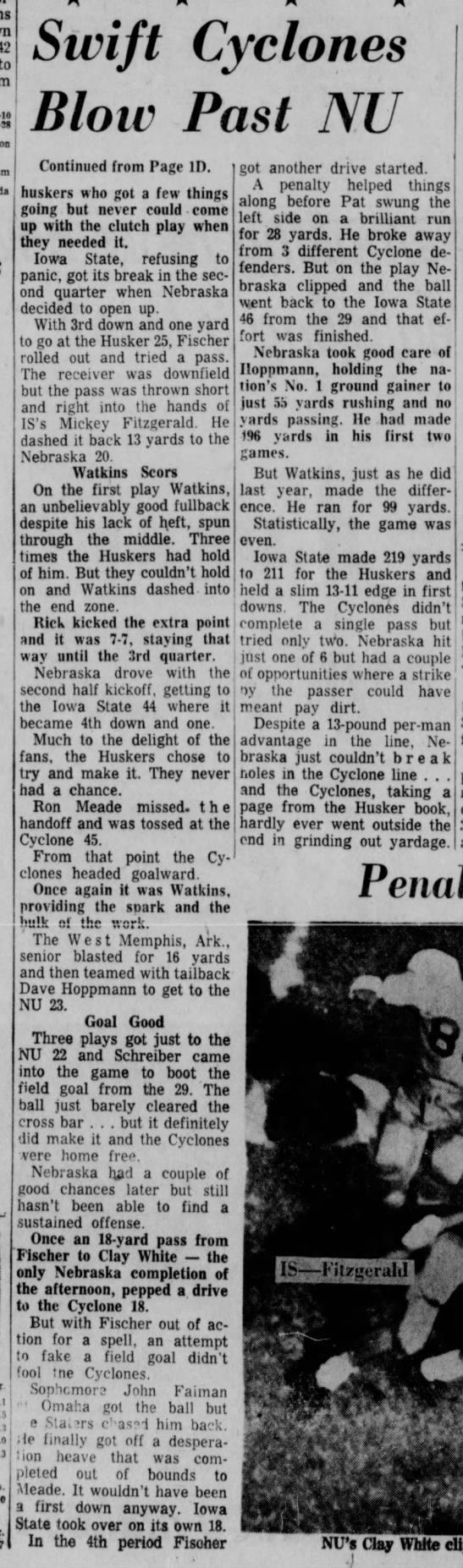 1960 Nebraska vs Iowa State football, part 2 -