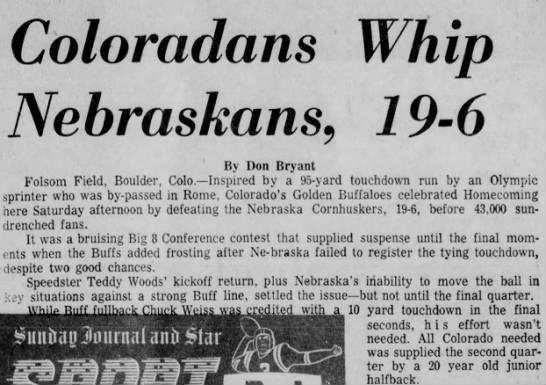 1960 Nebraska-Colorado football, part 1 -