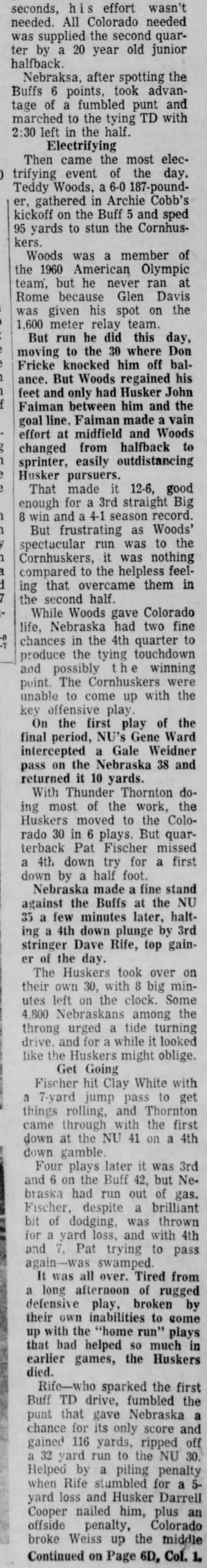 1960 Nebraska-Colorado football, part 2 -