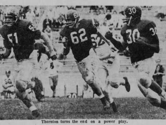 1961 Thunder Thornton spring game photo -