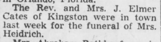 Funeral for Mrs. Heidrich--not sure which one; further research needed.  Dec 1951 -