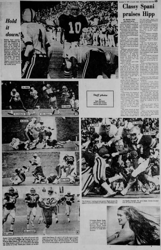 1977 Nebraska-KSU photos -