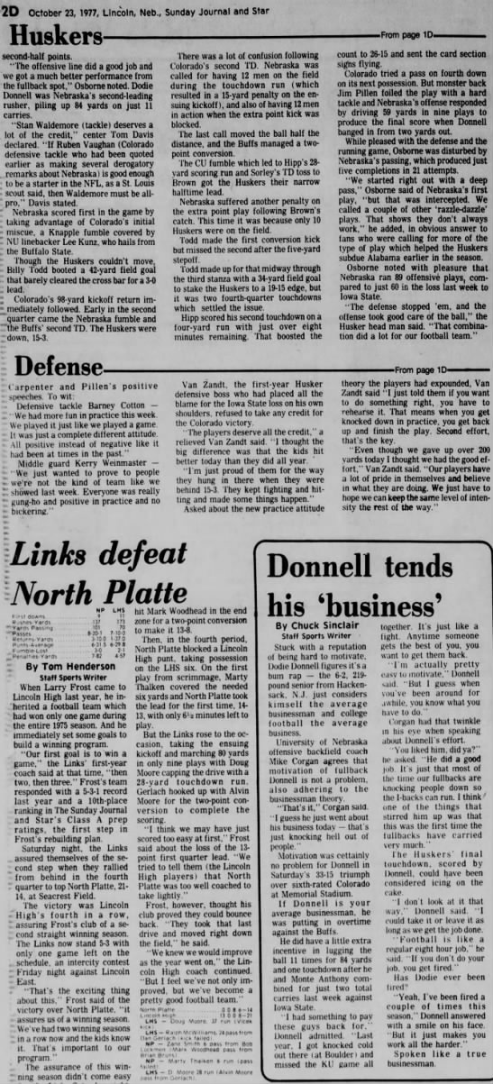 1977 Nebraska-Colorado part 3 -