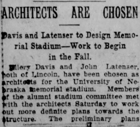 1922 Stadium architects part 1 -