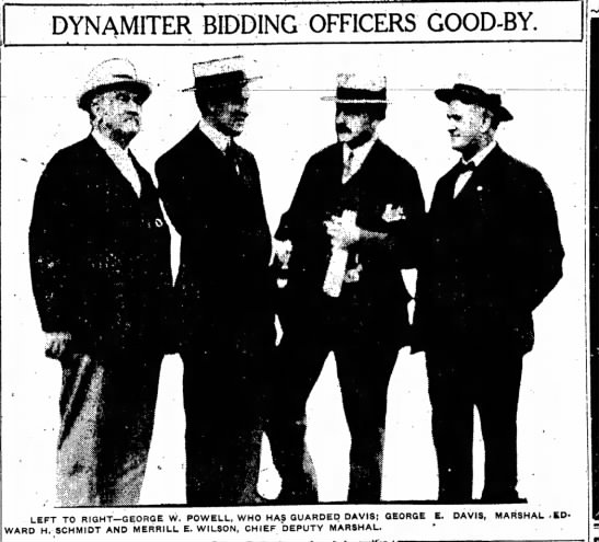 george e davis bidding officers good-bye, indianapolis star, july 4, 1914 -