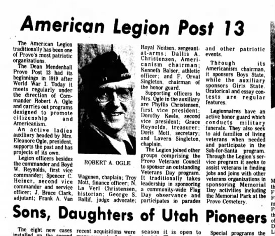Feb 27, 1977 - Daily Herald - Sunday - American Legion Posf 73 The American Legion...
