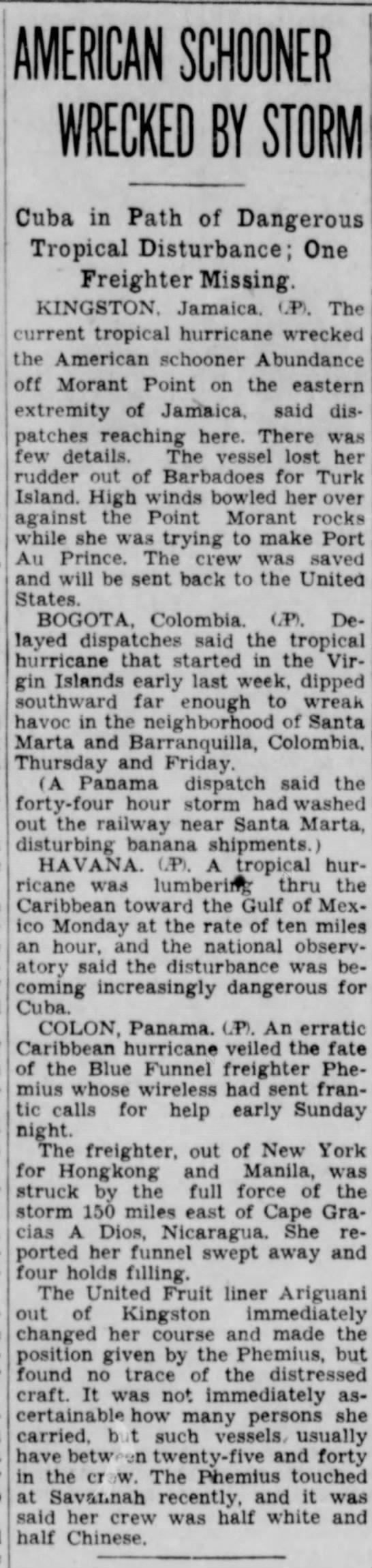 1932 Cuba hurricane -