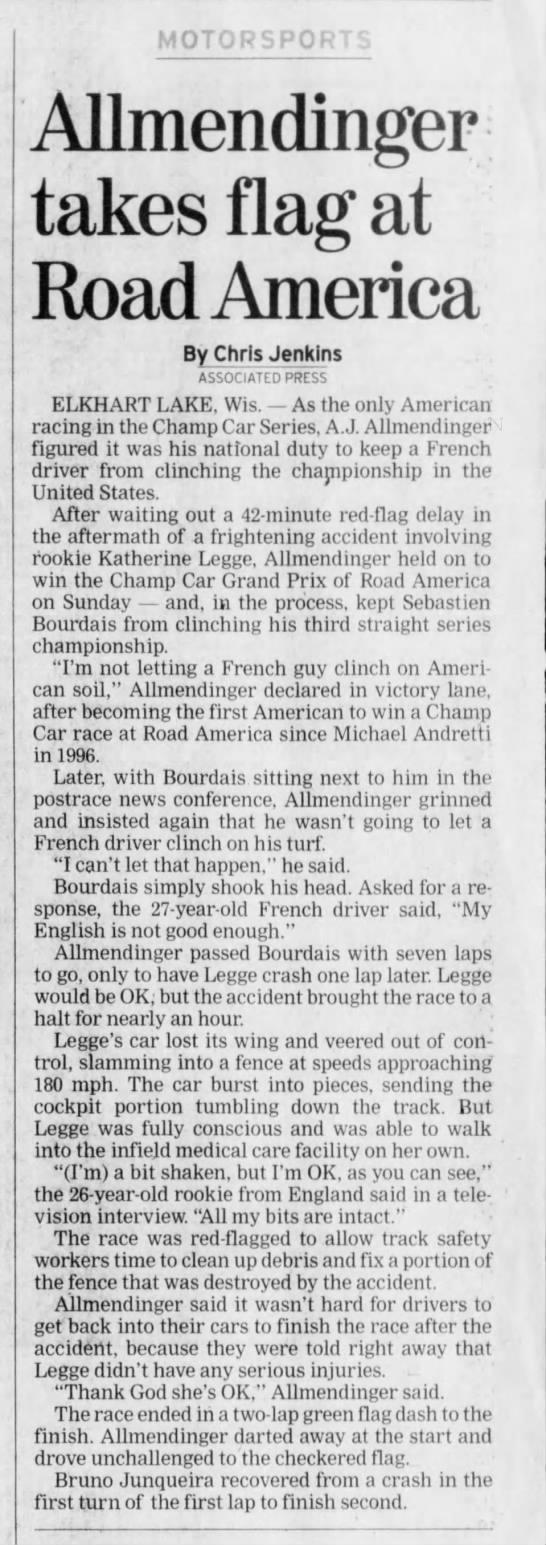 2006 CART Champ Car Road America -