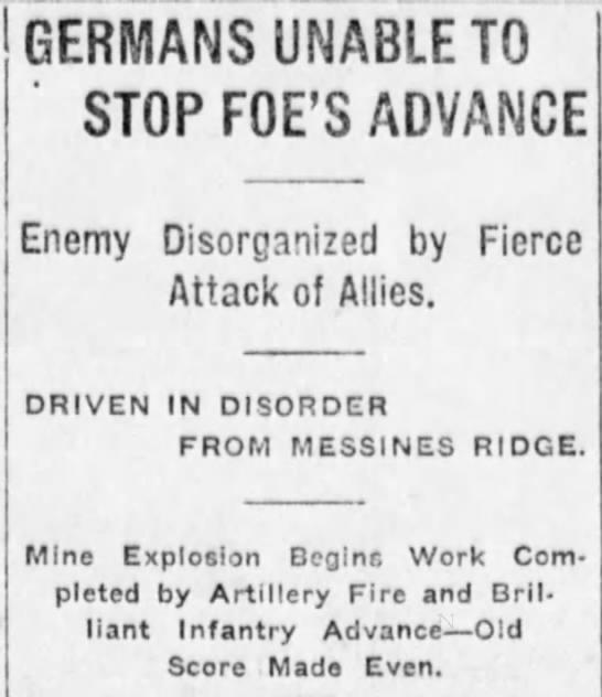 Explosion at Messines Ridge -