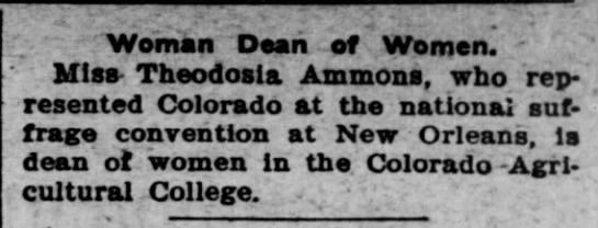 Theodosia Ammons 1903 -
