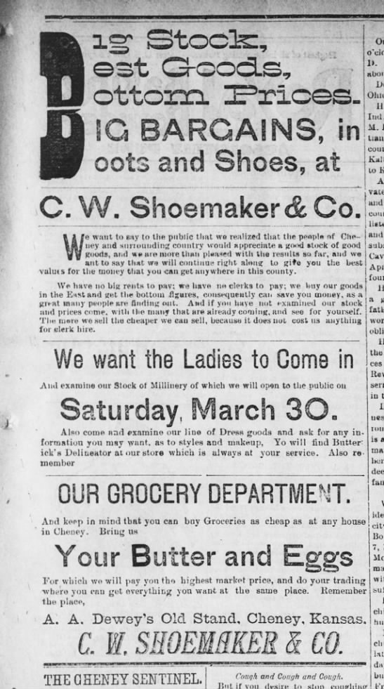 C.W. Shoemaker & Co. Ad -