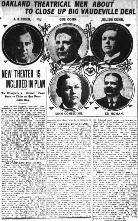 Cohn Brothers + Ed Homan -- Bell Theatre -