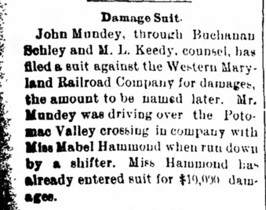 Mundy, John files suit - Salt- John Mundey, through Buchauat Behley and...